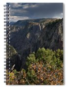 Afternoon Clouds Over Black Canyon Of The Gunnison Spiral Notebook