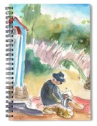 Afternoon On A Cretan Beach Spiral Notebook
