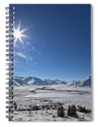 Afternoon Sun Along The Dempster Spiral Notebook
