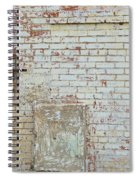 Aged Brick Wall With Character Spiral Notebook