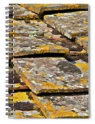 Aged Roof Tiles Of Tuscany Spiral Notebook