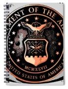 Air Force Medallion Spiral Notebook