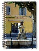 Aix En Provence Fountain Spiral Notebook