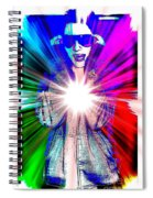 Ajay In Abstract Spiral Notebook