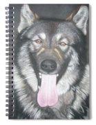 Akita And German Shepherd Mix  Spiral Notebook