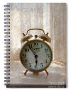 Alarm Clock On Windowsill Spiral Notebook