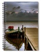 Albufera Before The Rain. Valencia. Spain Spiral Notebook