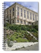 Alcatraz Cell House West Facade Spiral Notebook
