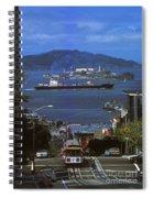 Alcatraz From San Fran Hilltop Spiral Notebook