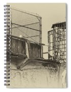 Alcatraz Recreation Yard Guard Cage And Gun Walk Spiral Notebook