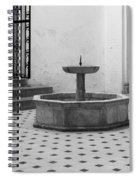Alcazar Courtyard In Black And White Spiral Notebook