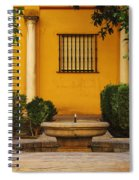 Alcazar Fountain In Spain Spiral Notebook