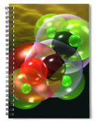 Alcohol Molecule 4 Spiral Notebook