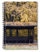 Alcove In The Autumn Park Spiral Notebook