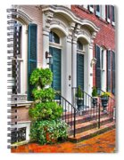 Alexandria Row Houses Spiral Notebook