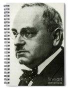 Alfred Adler, Austrian Psychologist Spiral Notebook