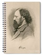 Alfred, Lord Tennyson, English Poet Spiral Notebook