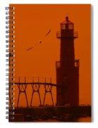 Algoma Pierhead Wi 16 O Spiral Notebook