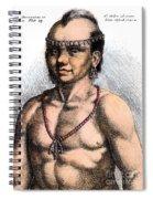 Algonquian Man, 1645 Spiral Notebook