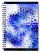 Alhambra Pattern Blue Spiral Notebook