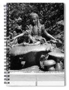 Alice In Wonderland In Central Park In Black And White Spiral Notebook