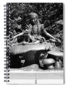 Alice In Wonderland In Central Park In Black And White Spiral Notebook