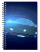 Alien Spacecraft Spiral Notebook