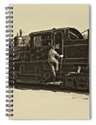 All Aboard Antique Spiral Notebook