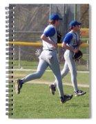 All Air Baseball Players Running Spiral Notebook