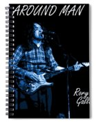 All Around Man Blues Square Spiral Notebook