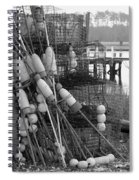 All Stacked Up In Black And White Spiral Notebook