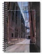 Alley With Fire Escape Layered Spiral Notebook