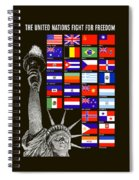 Allied Nations Fight For Freedom Spiral Notebook