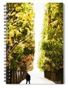 Alone In A Parisian Park Spiral Notebook