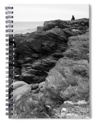 Alone Time Bw Spiral Notebook