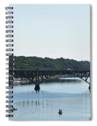 Along The Schuylkill River At Strawberry Mansion Spiral Notebook