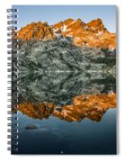 Alpenglow At Upper Sardine Lake Spiral Notebook