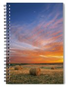 Amazing Sunset Over Pasture Spiral Notebook