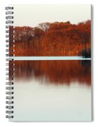 Amber Autumn Lake Spiral Notebook