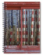 America Still Beautiful Red Picture Window Frame Photo Art View Spiral Notebook