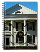 American Colonial Architecture Christmas  Spiral Notebook