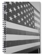 American Flag At Nathan's In Black And White Spiral Notebook