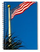 American Flag Flying Over The Palms Spiral Notebook