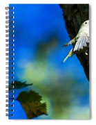 American Goldfinch Leaving Spiral Notebook