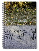 American Graffiti Why Are We Still At War Spiral Notebook