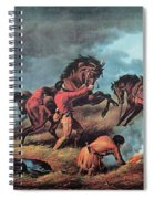 American Prairie Hunters Using Fire Spiral Notebook