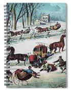 American Winter 1870 Spiral Notebook