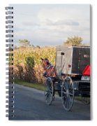 Amish Buggies October Road Spiral Notebook