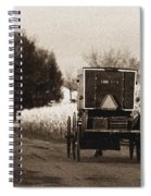 Amish Buggy And Wagon Spiral Notebook