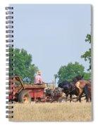 Amish Manure Spreader Spiral Notebook